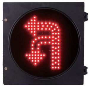 Turn Round U Turn and Turn Left Traffic Signal Red Color Dia. 300mm 12 Inch
