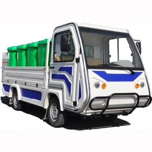 Electric Garbage Truck with Tail Gate Tipper, 1000kgs Loading Weight