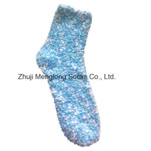China Lady Chenille Yarn Fuzzy Floor Socks - China Lady
