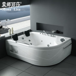 Monalisa Hot Selling Two Person Whirlpool Corner Bathtub (M-2023) pictures & photos
