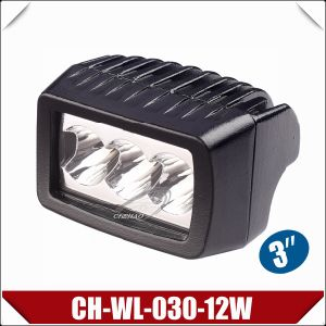 "3"" 12W Rectangle CREE Work Lamp with CE (CH-WL-030-12W)"