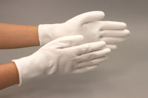 Antistatic Rubber Palm Smooth Surface Gloves