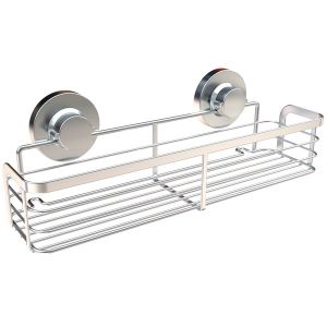 Chrome Plated Stainless Steel Kitchen Spice Rack with Suction Cups