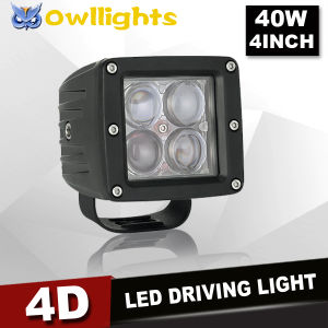 "High Performance New Optics 4D Reflector 3"" 40W CREE LED LED Work Light for Mining and Truck"