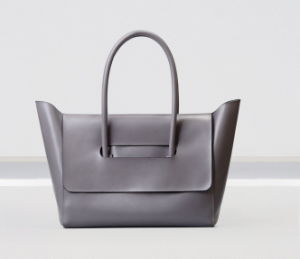 Simple Cutting Fashionable Women PU Leather Tote Bag (M0714)