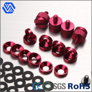 Aluminium Alloy Riveting Bolt Red Anodized Set Screw pictures & photos