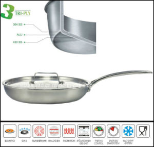 3 Ply Stainless Steel Pancake Fry Pan Most Popular pictures & photos