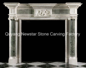English Fireplace Mantel Antique Looking Marble Fireplace Surround pictures & photos