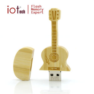 Wooden Guitar Shape USB Flash Drive 16g 32g USB 2.0 Lovely Box USB Memory Stick Driver for Gift