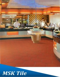 350X350 New Red Terracotta Quarry Tiles for Restaurant