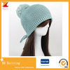 Women Knitting Winter Hat with Pompom