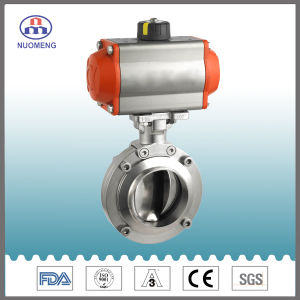 Stainless Steel Pneumatic Butterfly Valve pictures & photos