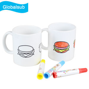 2016 New Arrival Personalized Color Pen Mug with Ceramic Marker