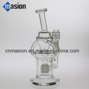 Recycler Glass Water Pipe Oil DAB Rig (ZY010) pictures & photos