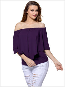 Multi-Way Ruffle Women Top pictures & photos