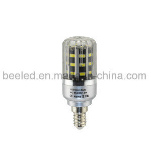 LED Corn Light E14 5W Cool White Silver Color Body LED Bulb Lamp