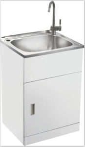 Wonderful Australia New Zealand Style Free Standing Commercial Stainless Steel Laundry  Tub Cabinet Gr X5656