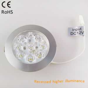 12V Recessed LED Cabinet Light for Wire Cases