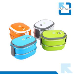 2-Layer Stainless Steel Take Away Lunch Box pictures & photos