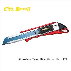 Japan Black Blade Heavy-Duty Zinc Alloy Utility Cutter Knife