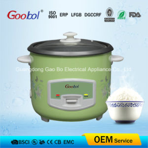 Green Colour Straight Body Rice Cooker with Flower Printing 220-240V pictures & photos