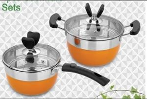 Wholesale Stainless Steel 4PCS Cookware Set with Low Price