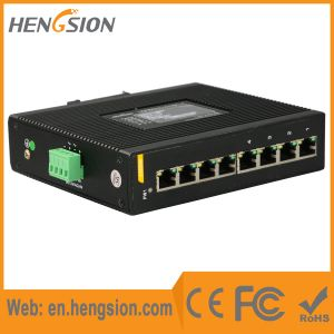 8 Gigabit Ports Dual Power Input Industrial Ethernet Network Switch