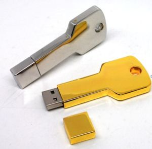 Gold Key USB Flash Disk Memory Key (MUD21)