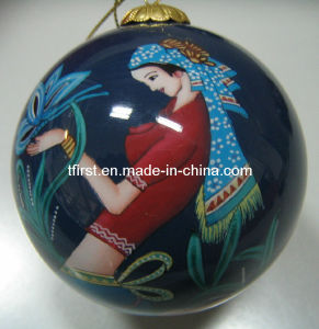 Glass Christmas Balls with Inside Painting