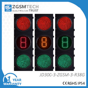 LED Traffic Signal Light Red Green Countdown Timer 300mm