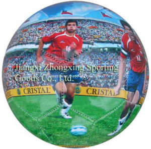 Machine Stitched with 32 Panels PVC Full Printing Soccer Ball (SM6002) pictures & photos