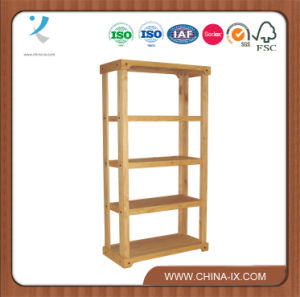 Wooden Retail Shelving Unit with 3 Shelves and Open Back pictures & photos