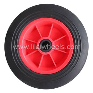 "Solid Rubbrer Wheel /Rubber Wheel /Hand Trolley Wheel (10′′x2"")"