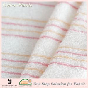 China Thin Stripe Long Loop Terry Towel Cloth Fabric For Baby