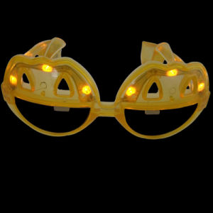 Easter Promotional Gifts Pumpkin Shape LED Flashing Fashion Sunglasses (QY-LS100P) pictures & photos