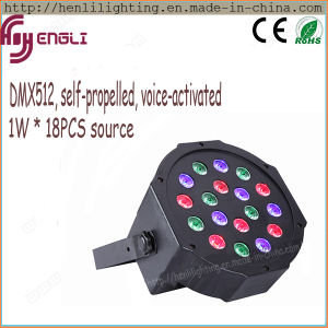 1W *18PCS Plastic Cover LED Wash PAR Disco Light