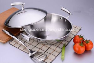 18/10 Stainless Steel Cookware Chinese Wok Cooking Frying Pan (SX-WO30-20)