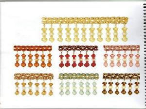 China Designer Home Decor Beaded Fringe For Curtain Accessories Gm B 340 China Beaded Fringe And Fringe Price