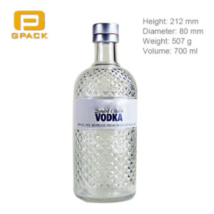 Wholesale Empty Similar Model 700ml Absolut Vodka Glass Bottle with Aluminum Screw Cover Lid Cap