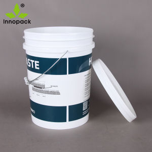 Printed PP Food Grade 20 Liter Plastic Pail Bucket with Lid and Handle pictures & photos