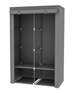 Bedroom Storage Fabric Wardrobe Portable Clothes Closet Double Rod Storage  Organizer