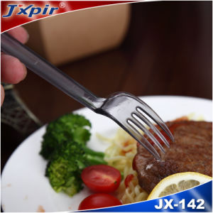 PS Plastic Disposable Cutlery, Clear, Frosted Handle pictures & photos