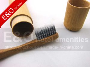 Wooden Bamboo Toothbrush with Bamboo Tube pictures & photos