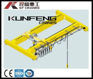 Electric Double Girder Overhead Traveling Crane with Wire Rope Hoist pictures & photos