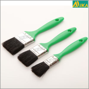 Green Handle 3PCS Black Bristle Paint Brush