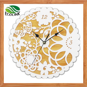 Bamboo Acrylic Wall Clock for Home Decoration pictures & photos
