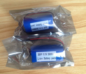 3s1p 11.1V 2600mAh 18650 Lithium-Ion Battery Pack