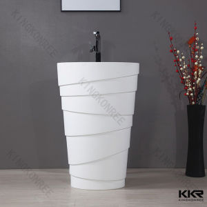 Modern Bathroom Sanitary Ware Stone Resin Wash Basin
