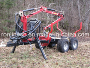 1500kgs 4X4/4WD ATV/Quad/UTV/Small Tractor Towable/Tow Behind Timber Trailer/Grapple Trailer/Lumber Trailer/Log Trailer W Hydraulic Crane CE pictures & photos