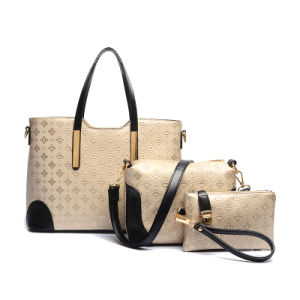2016 New Embossed Lady Handbag Sets 3PCS Fashion Designer (XM0111) pictures & photos